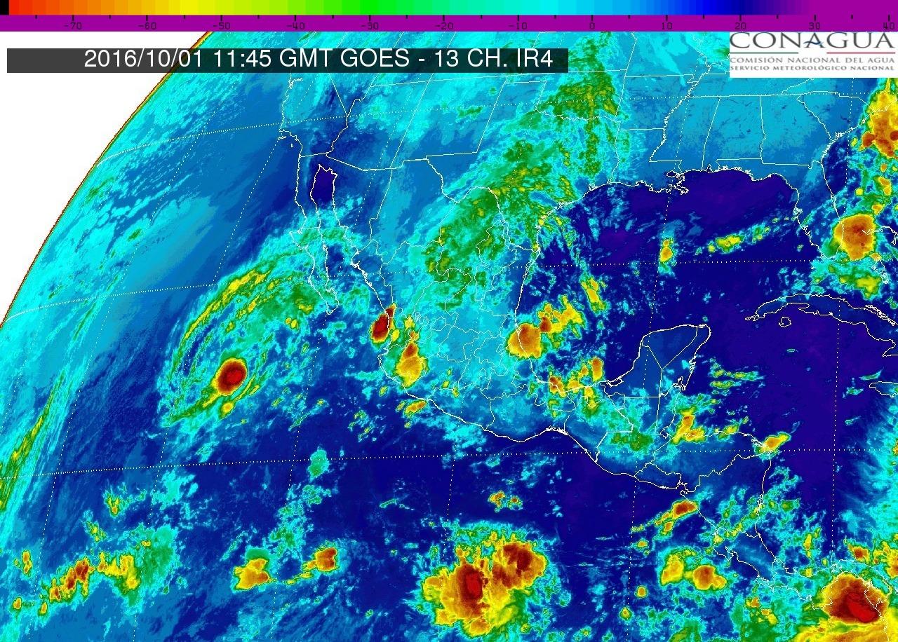 Se prevén tormentas muy fuertes en regiones de Durango, Zacatecas, Veracruz, Tabasco y Chiapas
