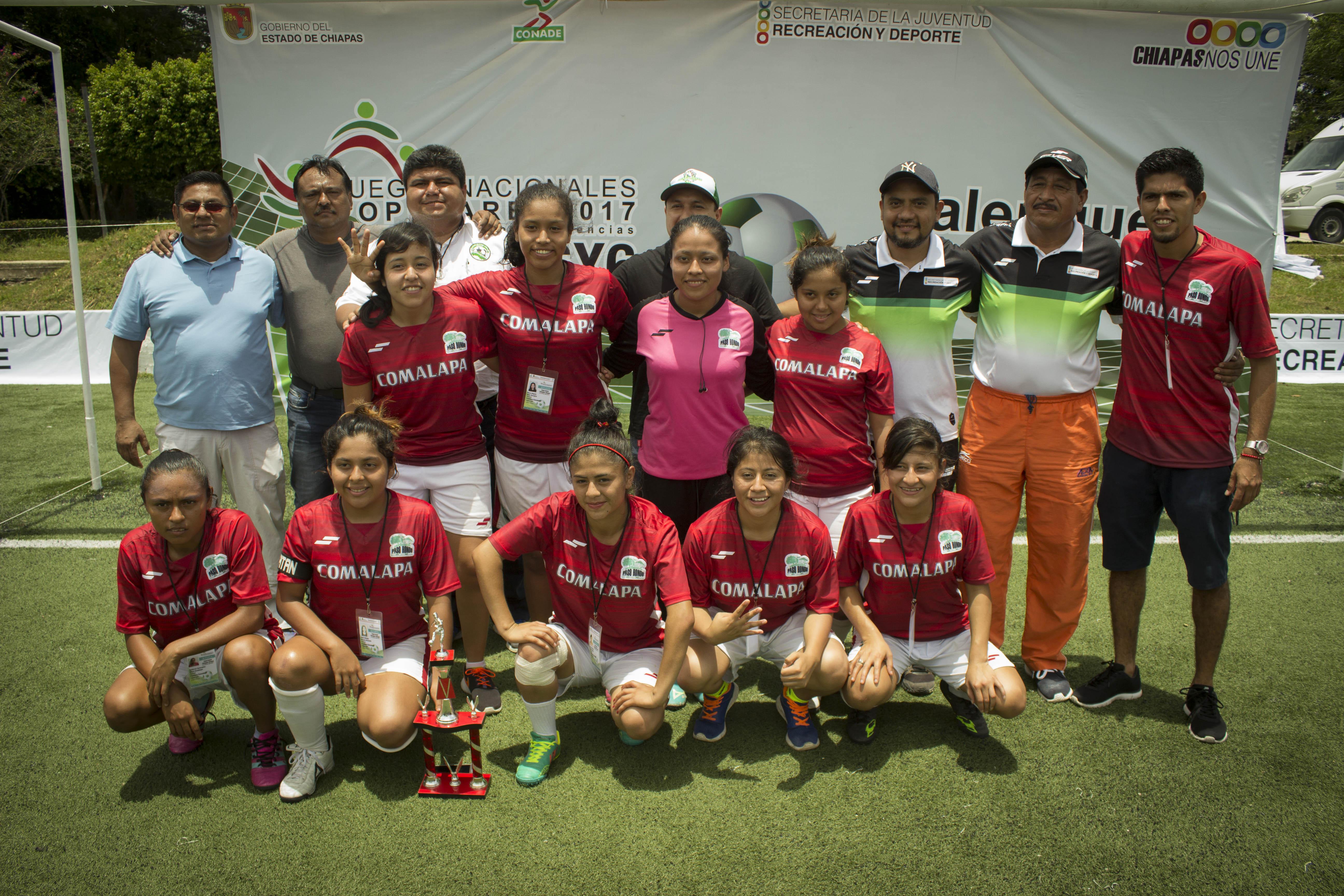 Frontera Comalapa y Palenque, campeones del Estatal de Futbol 6×6