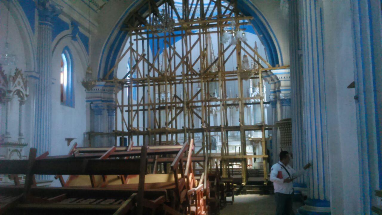 Protección Civil verifica iglesias afectadas por sismo en San Cristóbal de las Casas