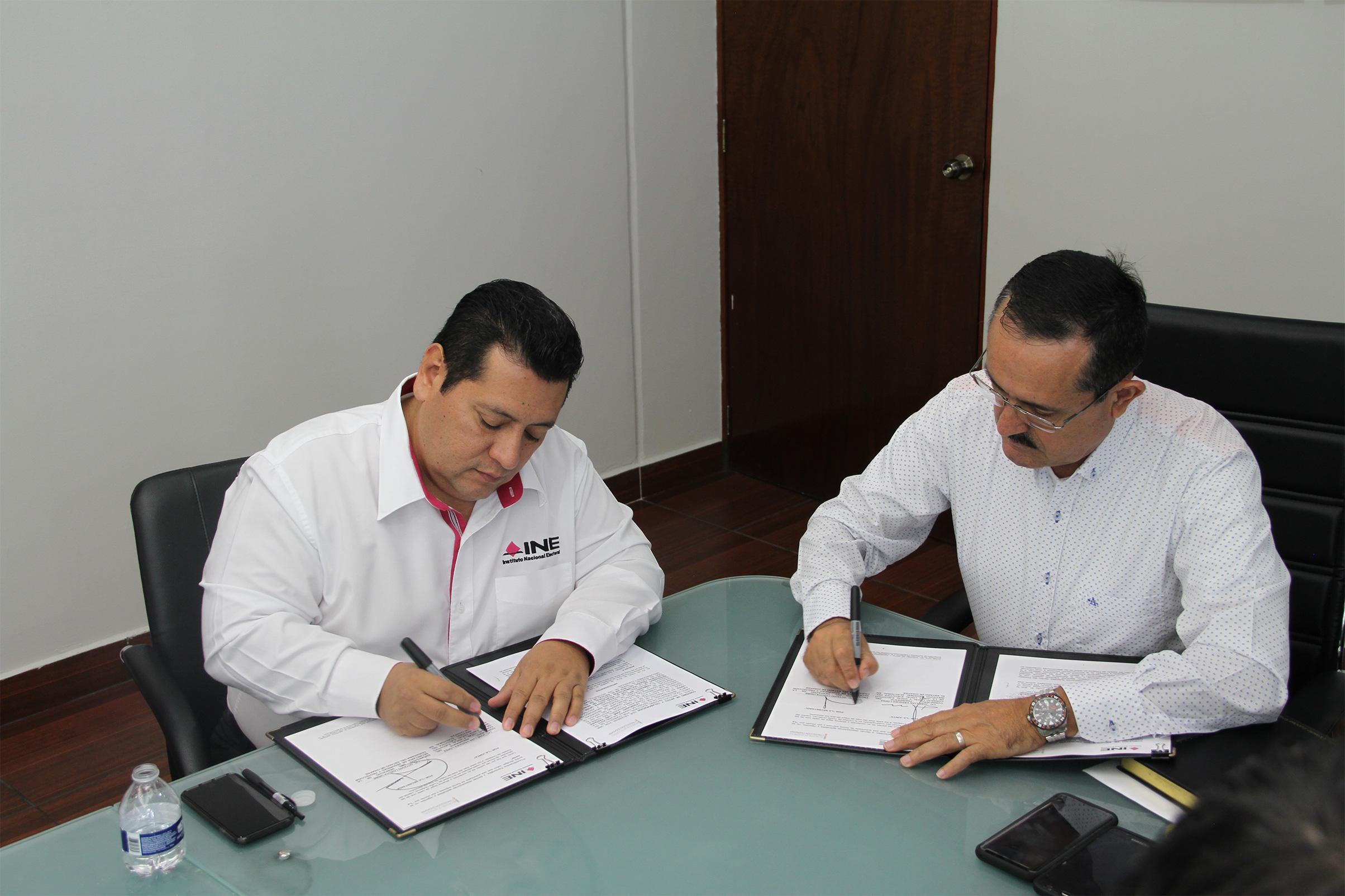 Firman convenio el INE Chiapas y la SSPC para otorgar seguridad a la ciudadanía chiapaneca y a la documentación electoral