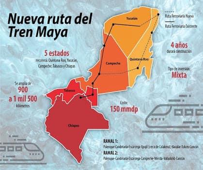 Tren Maya, de alto impacto para Chiapas y el Sureste