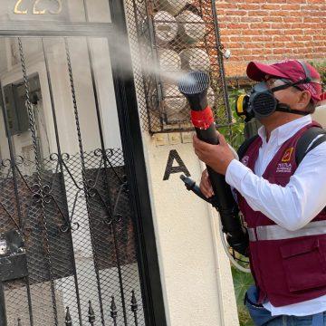 Implementan acciones de concientización y fumigación contra el dengue en Tuxtla