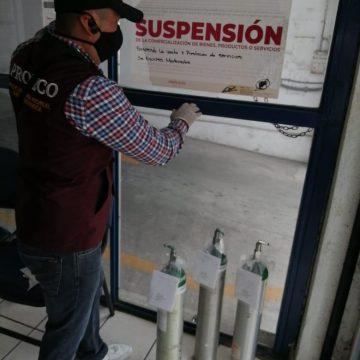 Refuerza Odeco vigilancia de comercialización de tanques de oxígeno y medicinas