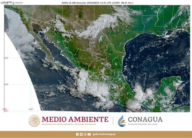 Este lunes, se pronostican lluvias intensas en Chiapas