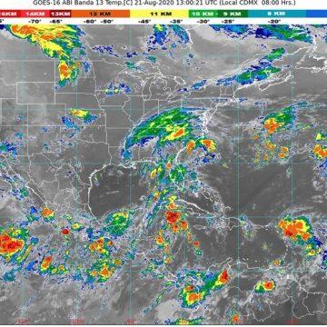 Canales de baja presión generará lluvias intensas en Chiapas; CONAGUA