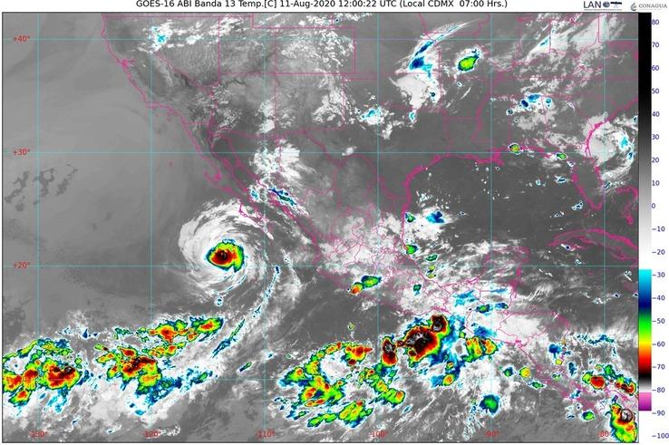 Hoy, se pronostican lluvias intensas para Chiapas, Colima, Guerrero, Jalisco, Nayarit, Oaxaca y Veracruz