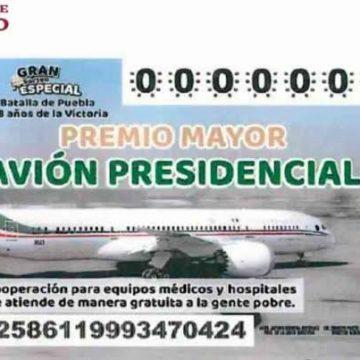 A una semana del sorteo, se han vendido mil 907 mdp en billetes para rifa por avión presidencial