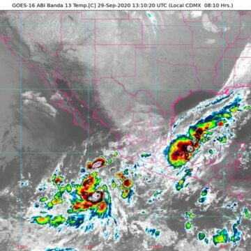 Se prevén lluvias en Chiapas, Tabasco y Veracruz debido al Frente Frío No. 4