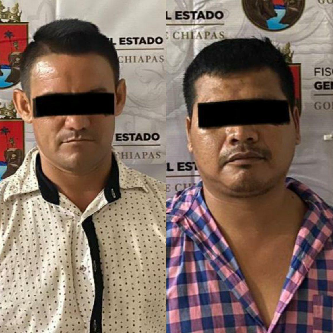 Aseguran  dos sujetos con posesión de drogas y arma de fuego en Huixtla