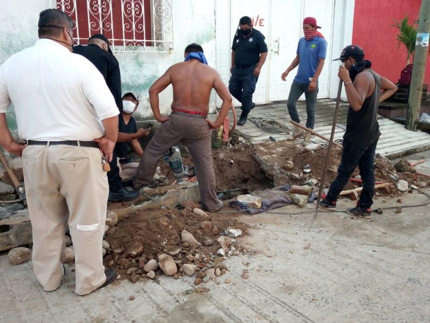 En Huixtla, localizan dentro de una alcantarilla el cuerpo de una persona, la cual fue arrastrada por las fuertes lluvias en días pasados