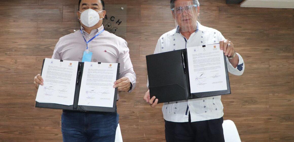 Ayuntamiento de Tuxtla Gutiérrez y UNICACH signan convenio para el Monitoreo de la Calidad del Aire