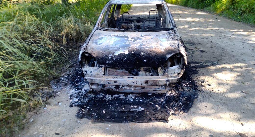 Localizan vehículo incinerado y abandonado en camino de extravío de Mapastepec