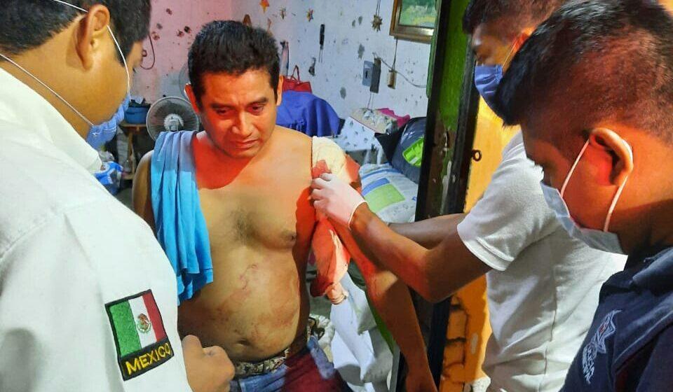 Lesionan con arma de fuego a una persona en Huehuetán
