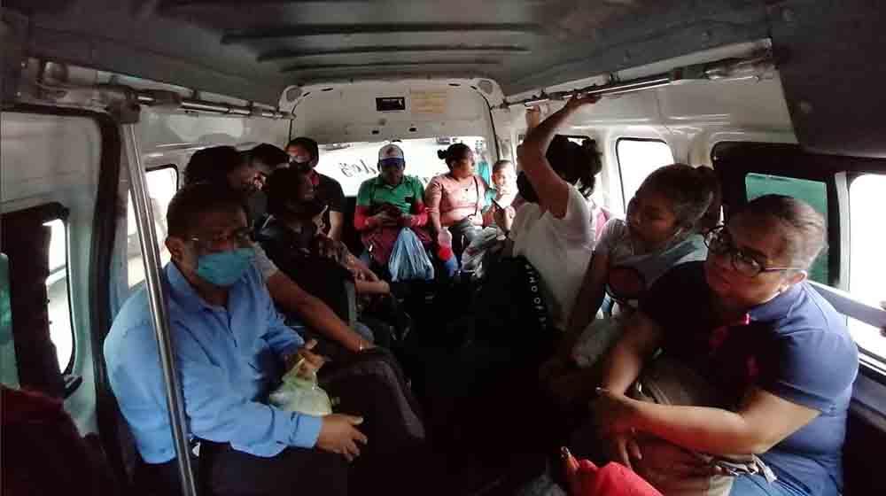 Ya no hay protocolos para prevenir covid19 en el transporte público