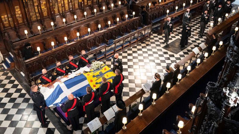 Reino Unido guarda un minuto de silencio en el inicio del funeral del duque de Edimburgo