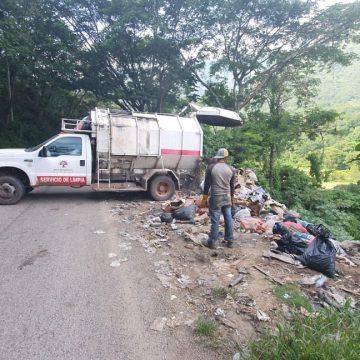 Contaminación por basureros en Amatenango de la sierra de Chiapas.