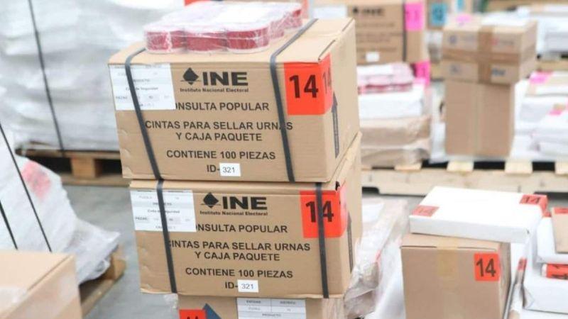 El INE comienza a repartir el material para la consulta popular del 1 de agosto