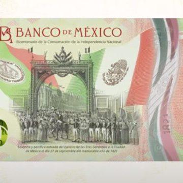 Honran consumación de Independencia con nuevo billete de 20 pesos
