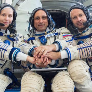 Revelan imágenes tras la filmación de la primera película en el espacio